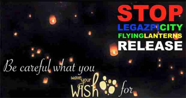 Greenpeace advocacy helps cancel environment hazard lantern flying event in Legazpi