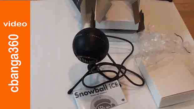 Watch: Unboxing black Snowball Ice Usb Mic from Blue Microphones