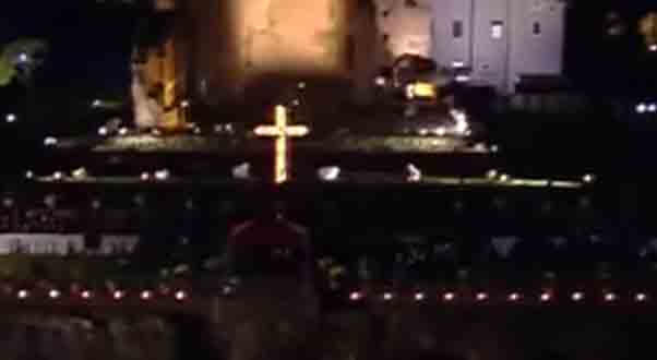 The live feed of Via Crucis April 19, 2019 from the Colosseum.