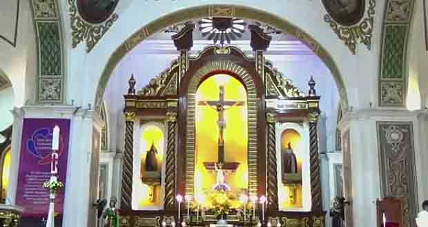The altar of the Naga Metropolitan Cathedral.