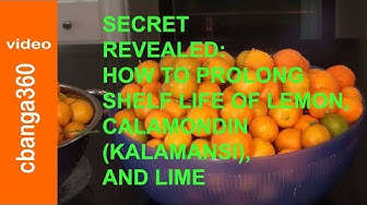 How to Prolong Shelf Life of Lemon, Lime and Calamansi
