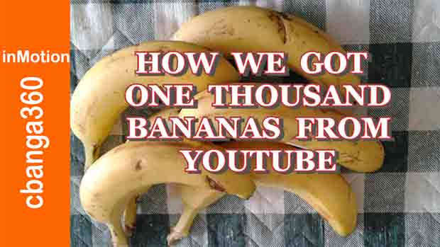 How we Got 1K Bananas from Youtube