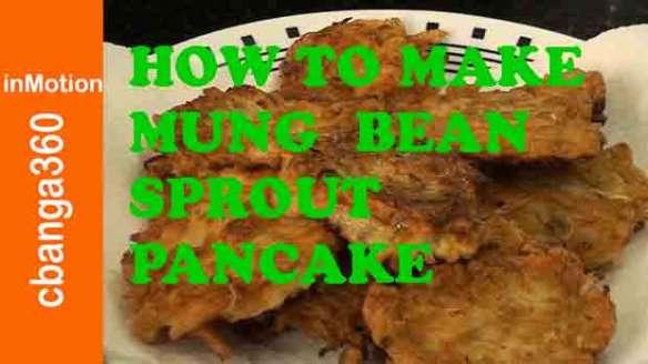 How to make Mung Bean Sprout Pancake