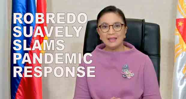 Robredo Suavely Slams Pandemic Response