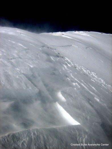 1/18 Skier triggered windlab into Red Lady Bowl. SE aspect
