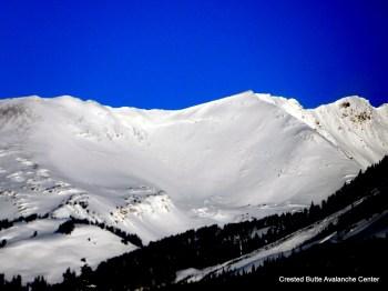 Mt. Baldy.  SE aspect ATL