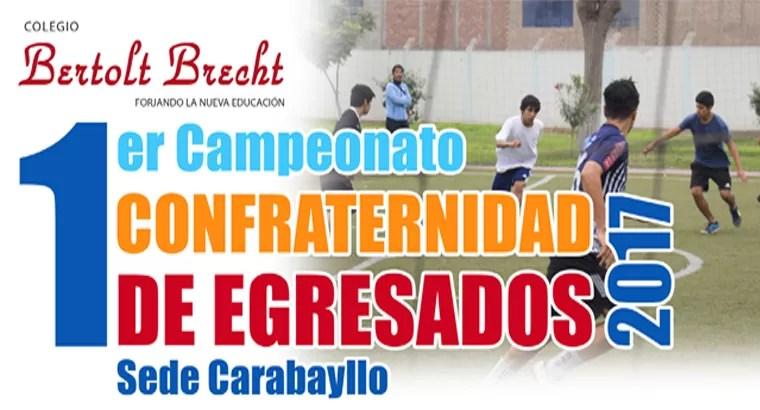 I Copa Confraternidad de egresados 2017