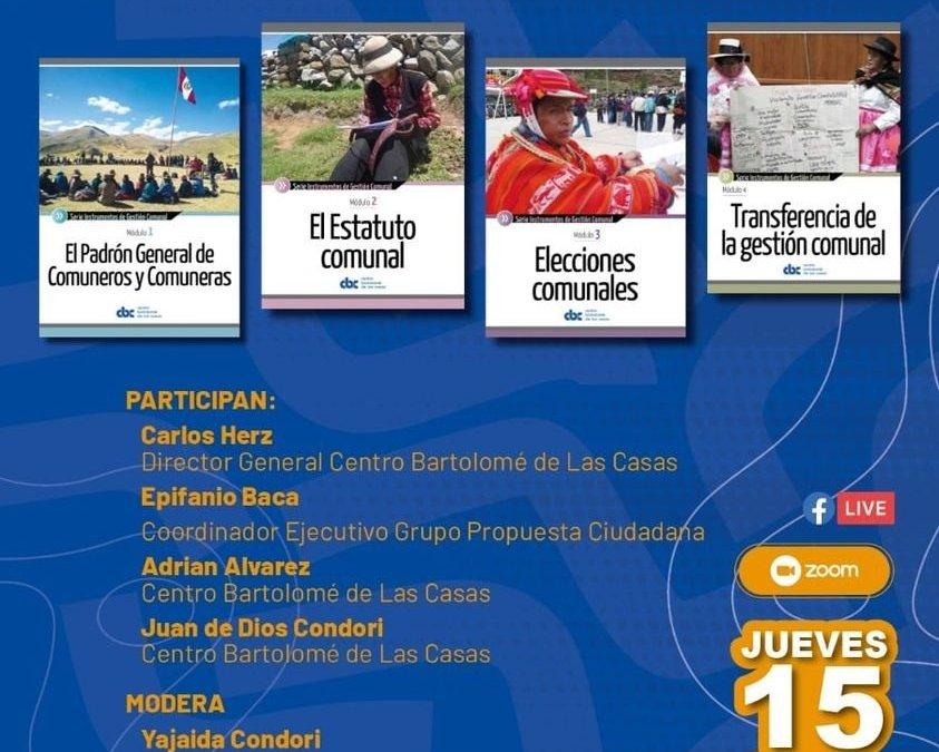"""Presentación de los """"Módulos de Gestión Comunal""""  en memoria de Juan Churats Huaracha"""