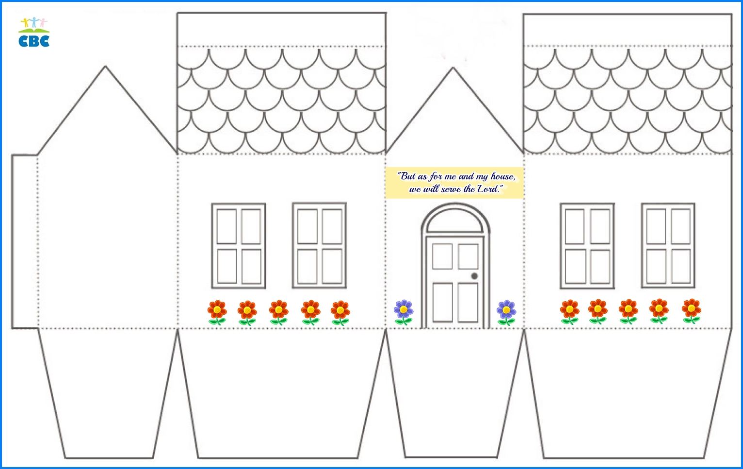 paper scandinavian house template. christmas paper houses