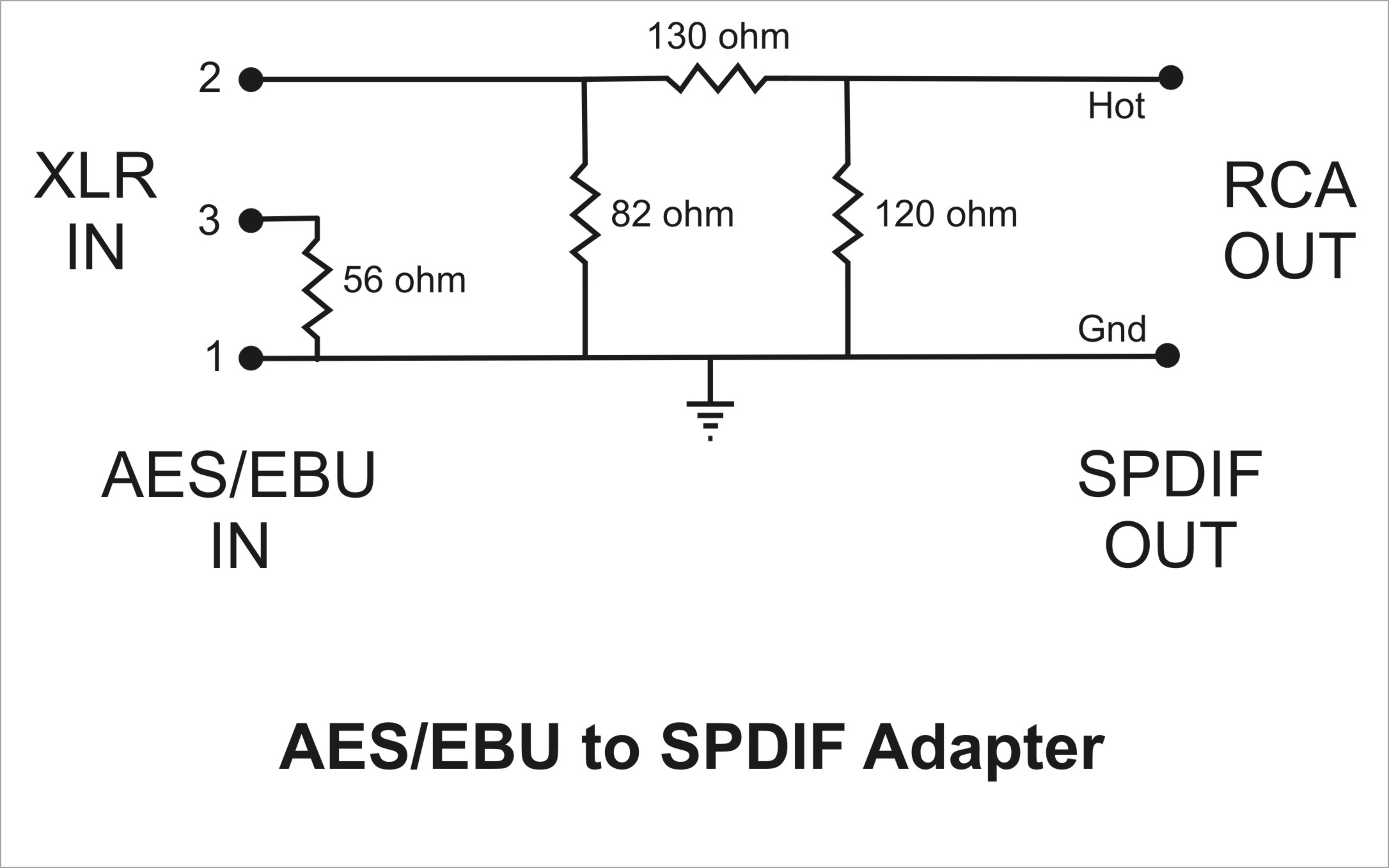 Simple Adapter To Change Aes Ebu To Spdif