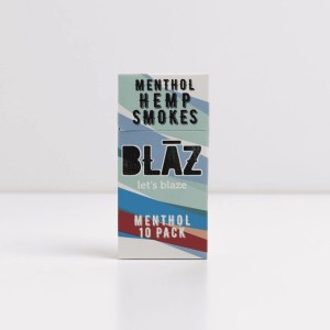 hemp cigarettes, cbd flower cigarettes, hemp flower cigarettes, hemp smokes, premium hemp smokes, cbd smokes, menthol, blaz, 10 pack