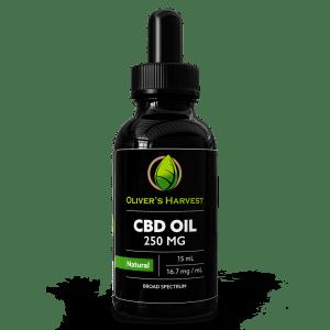 cbd oil drops, cbd tincture, hemp oil drops, hemp oil tincture, oliver's harvest, 250mg, 250 mg, natural