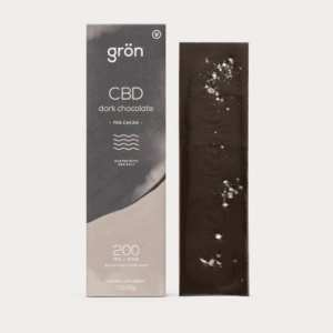 cbd chocolate, cbd edibles, cbd chocolates, cbd chocolate edibles, gron, gron cbd, 200mg, 200 mg, dark chocolate, dark chocolate with sea salt