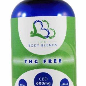 CBD Body Blends Massage Oil Migraine Support blend in 8 oz bottle
