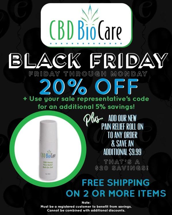 CBD BioCare Black Friday Sale