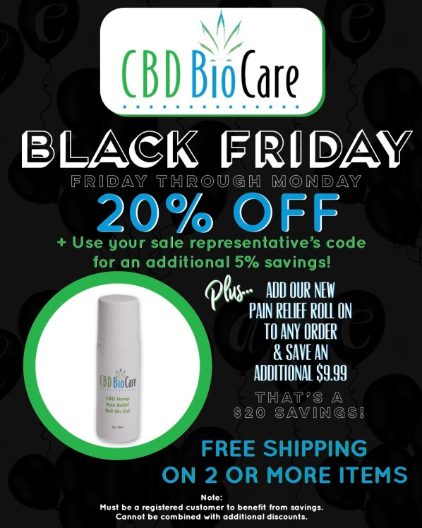 CBD BioCare Black Friday Sale