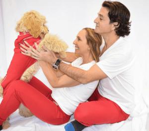 CBD Dog Health Red Pajamas
