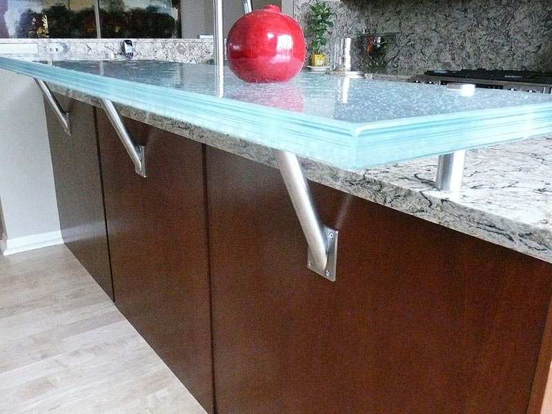Cbd Glass Countertops Raised Glass Countertop For Eating Area And Bars | Cbd Glass