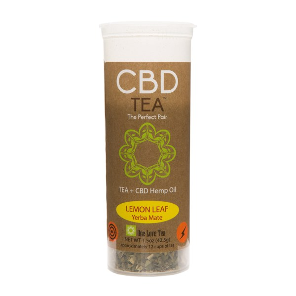 cbd tea cbd infused tea lemon leaf