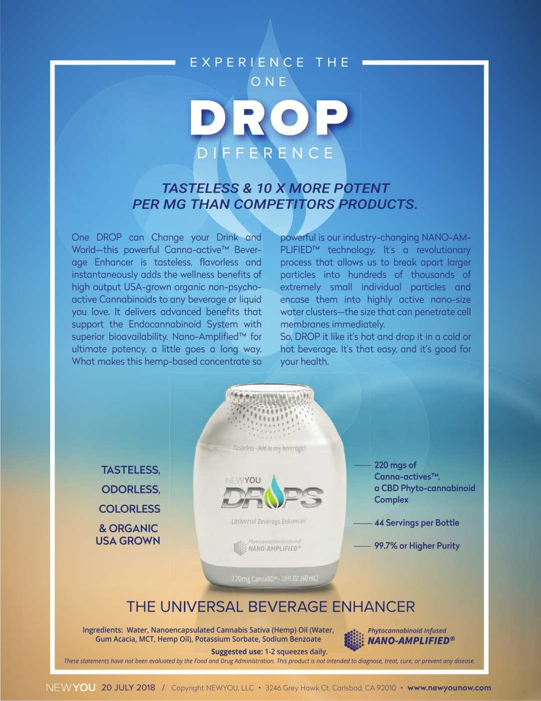NANO AMPLIFIED NEWYOU DROPS