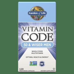 Vitamin Code 50 and Wiser Men Front