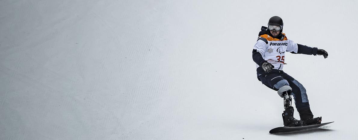 andré cintra durante prova de banked slalom