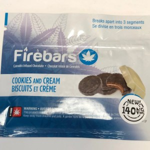 Fire Bars- Cookies and Cream (140 MG THC)