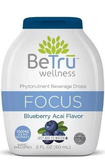 Be Trū Wellness FOCUS Water Soluble Hemp CBD Beverage Drops
