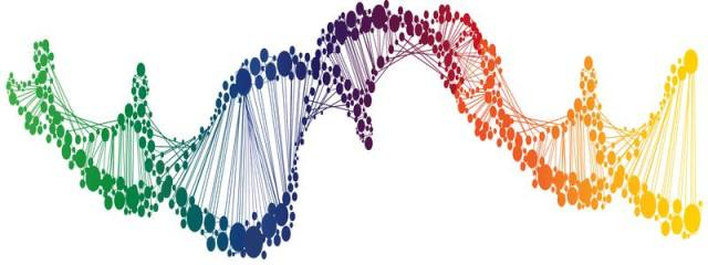 Colorful DNA Strand
