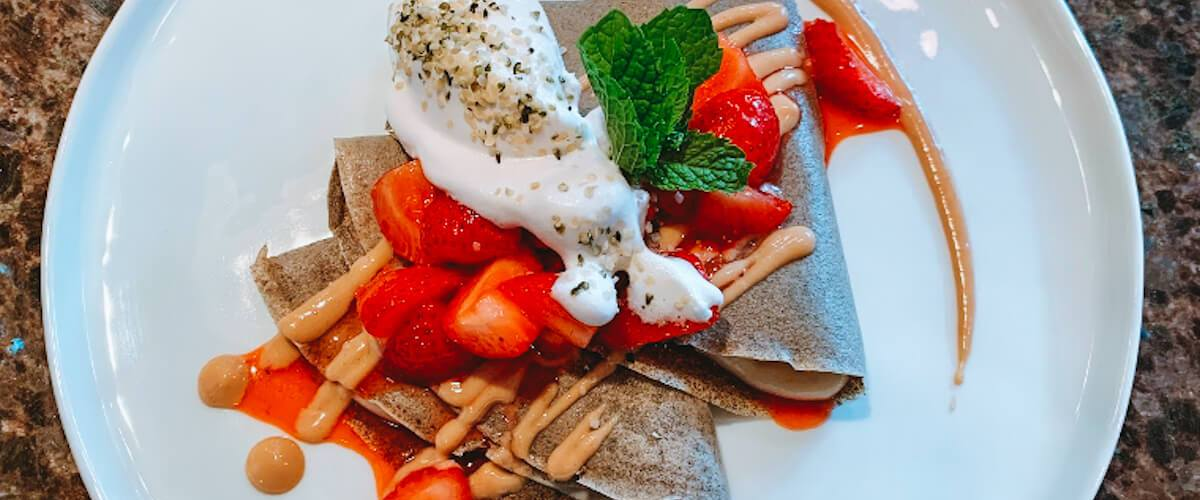 Dr. Igor's Buckwheat Crepes with a Creamy Apricot Hemp Filling