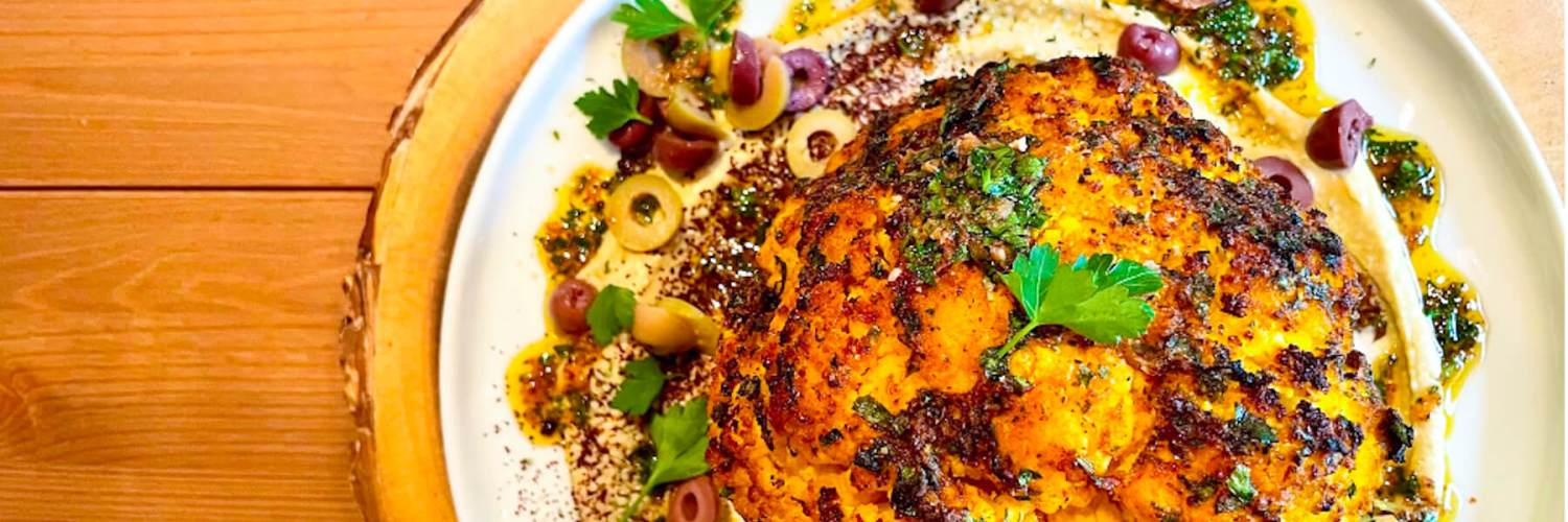 Dr. Igor's Middle Eastern Whole Roasted Cauliflower Recipe