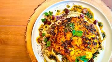 Dr. Igor's Middle Eastern Whole Roasted Cauliflower Recipe