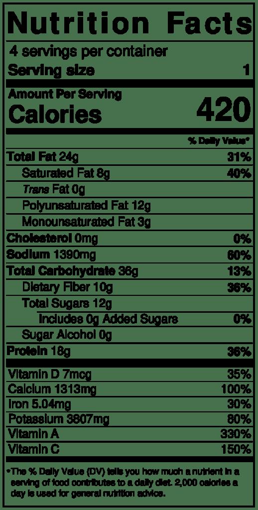 Dr. Igor's Gluten-Free Savory Kale, Hemp Heart & Mushroom Crêpes