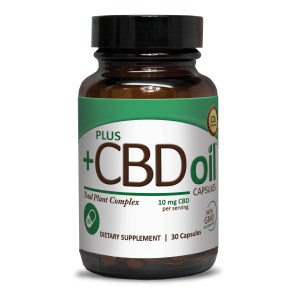 Plus CBD Oil Capsules Green Formula 10mg CBD per capsule (30 ct)