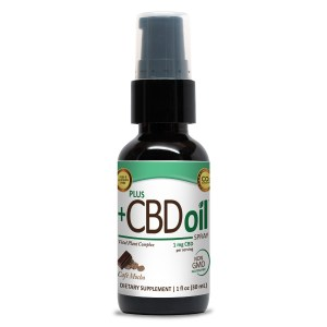 PlusCBD Oil Spray Cafe Mocha 1oz 100mg CBD