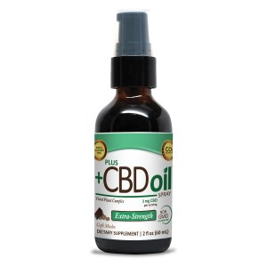 PlusCBD Oil Spray Cafe Mocha Flavor 2oz 500mg CBD