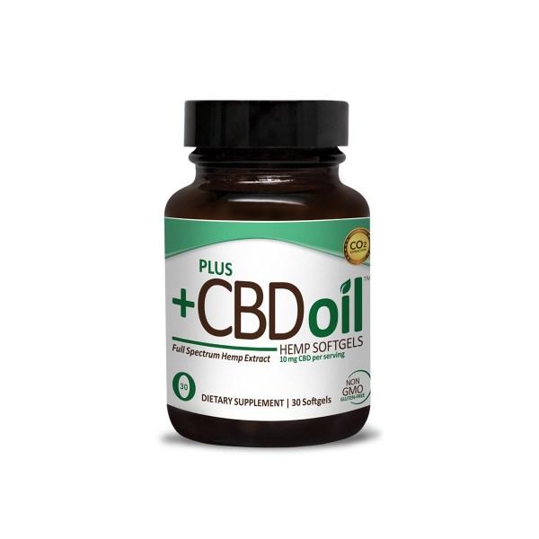 Plus CBD Oil Softgels Green Formula 10mg CBD per softgel (30 ct)