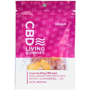 CBD Living Vegan Gummy Bears 100mg