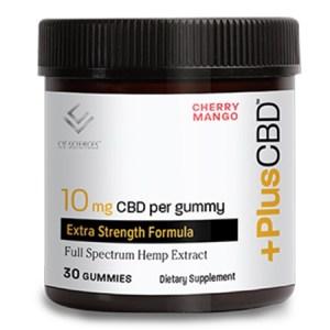 PlusCBD Extra Strength Gummies – 10mg Cherry Mango 30ct