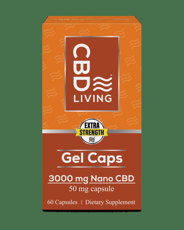 CBD Living 50 MG – 60 Count Gel Capsules
