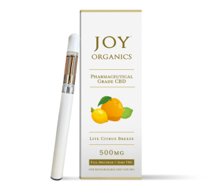 Joy Organics 500mg full-spectrum CBD vape-pen
