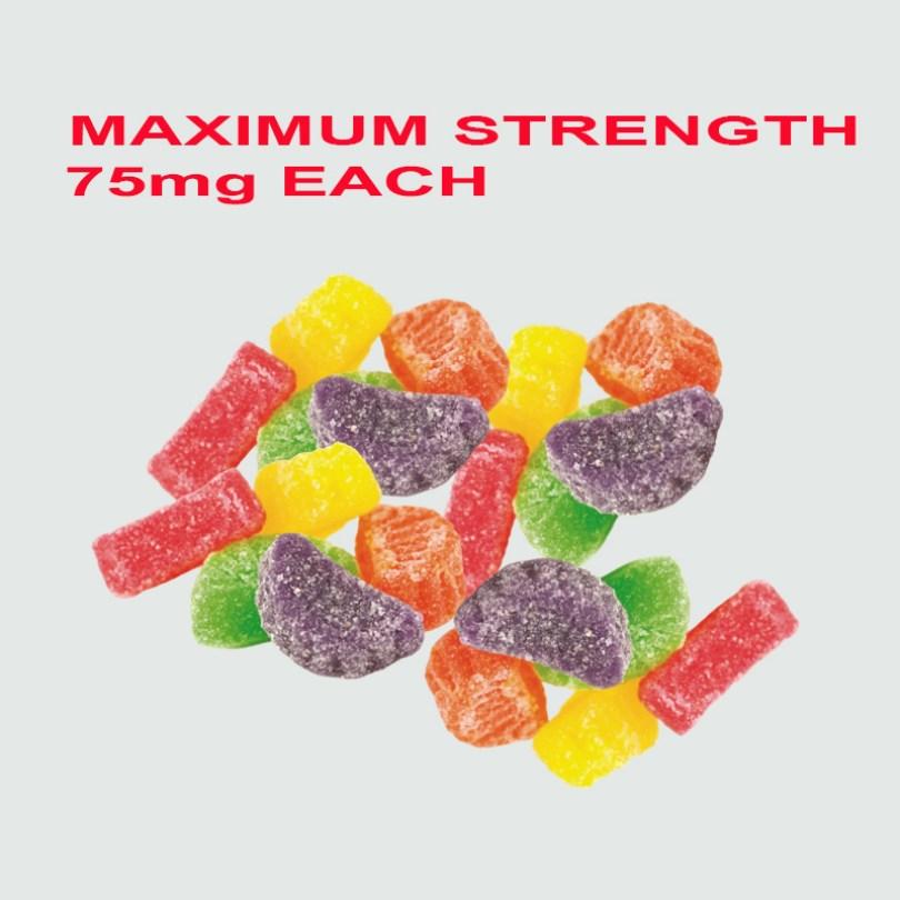 BUY BULK – MAX STRENGTH – 75mg Delta-8 THC Candies