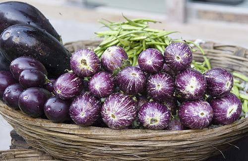 Eggplant in Colaba Markey, Bombay