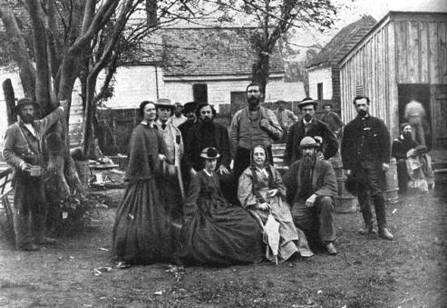 Sanitary Commission Officers and Nurses, Fredericksburg 1864