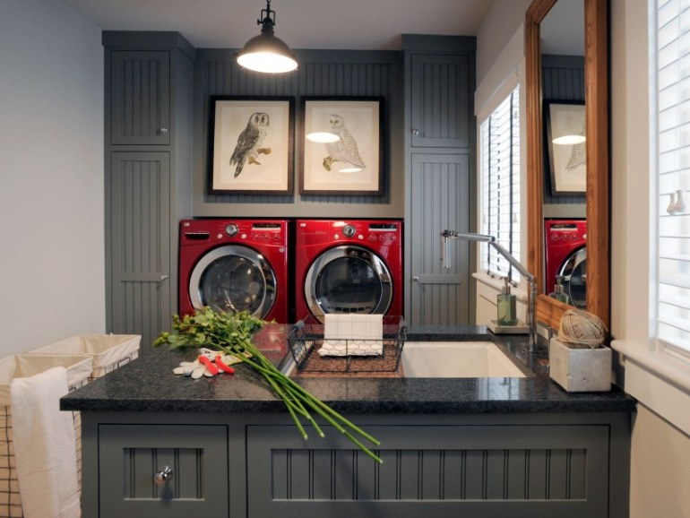 basement laundry room on a budget