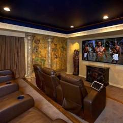 Comfy Chair And A Half Kelly Revolving 15 Awesome Basement Home Theater [cinema Room Ideas]