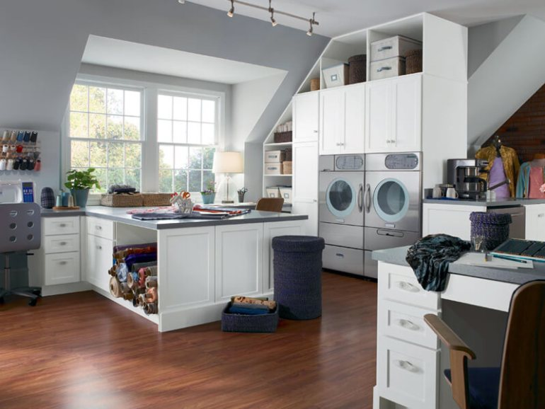 basement kitchen laundry room