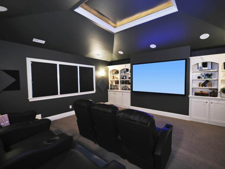 finishing a basement home theater