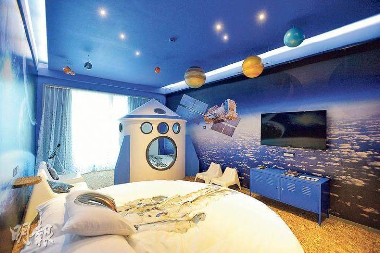 creating a space themed bedroom