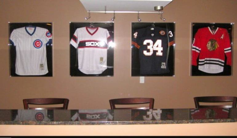 diy jersey display case